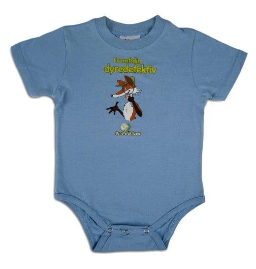 Blå babybody kortermet