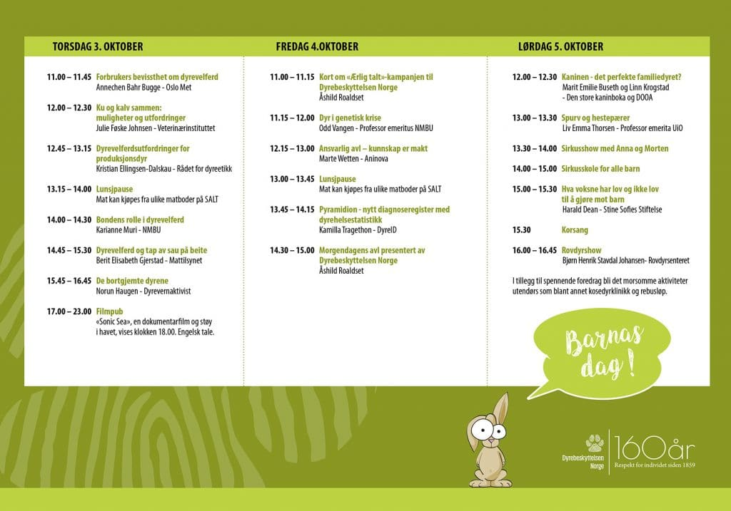 Program over jubileumsfeiring på SALT 3 - 5 oktober