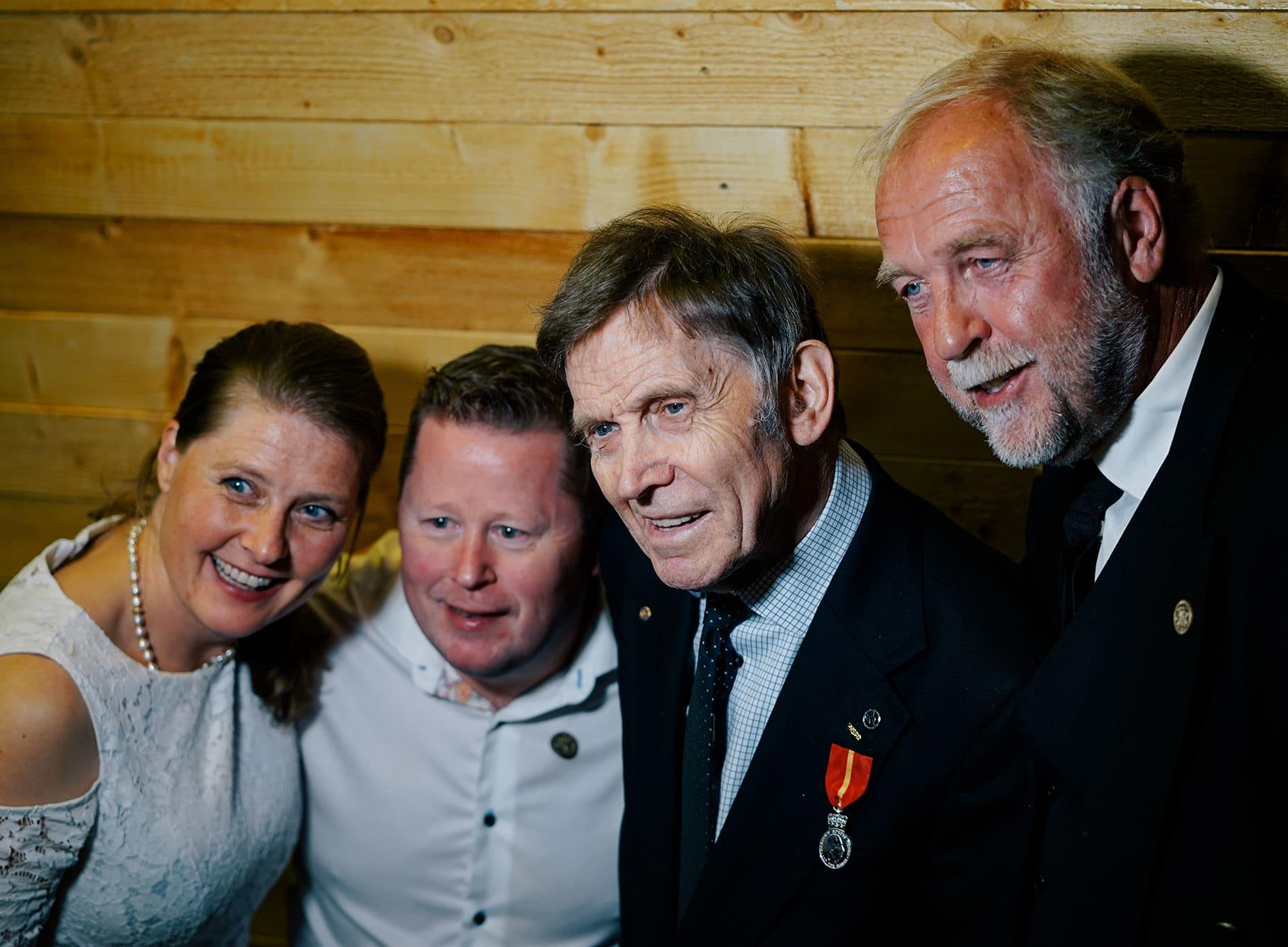 Åshild Roaldset, Bård Kirkeeng, Toralf Metveit og Ove Myrmel. Foto: Anna Rogneby