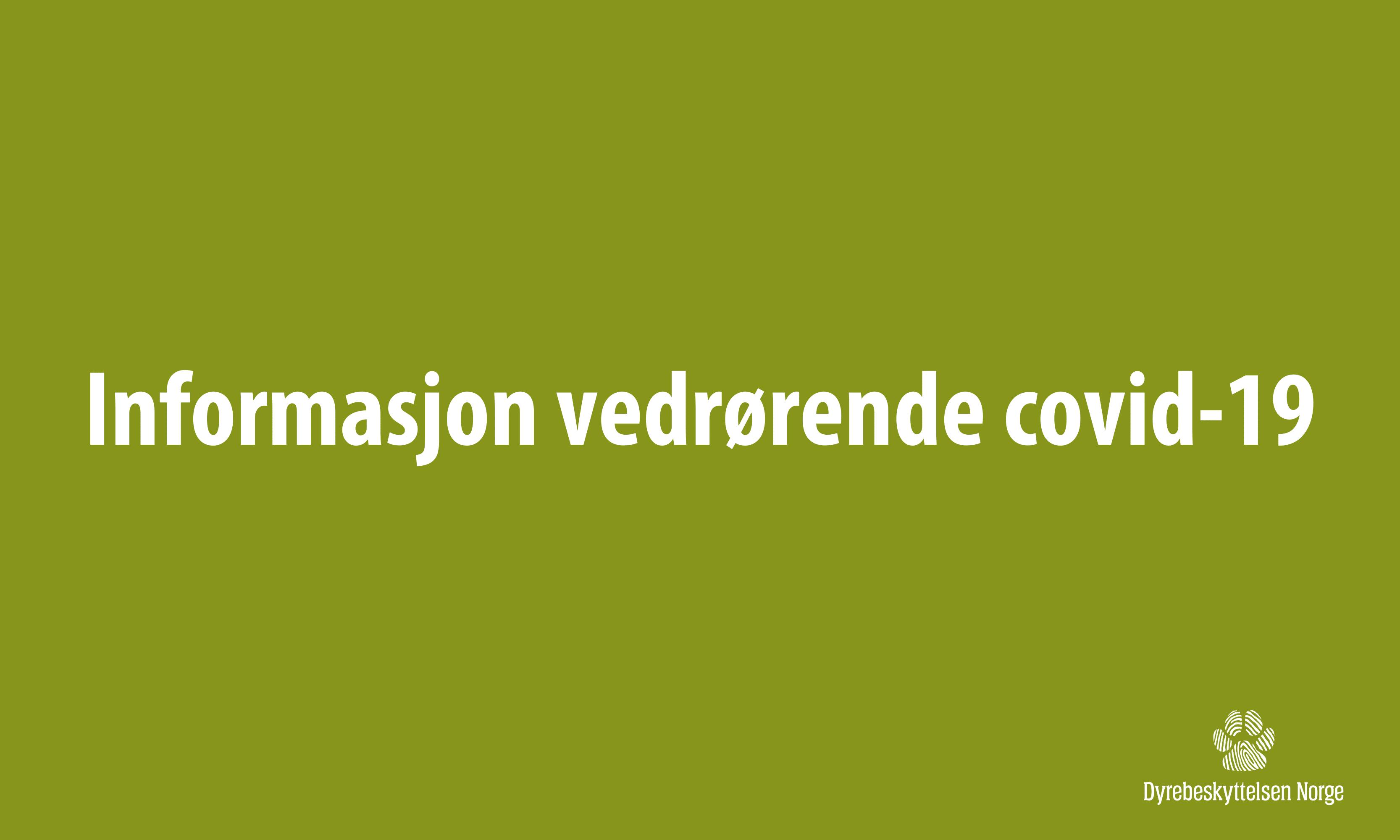 Informasjon vedrørende covid-19
