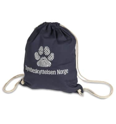 Gymbag med Dyrebeskyttelsen Norge logo