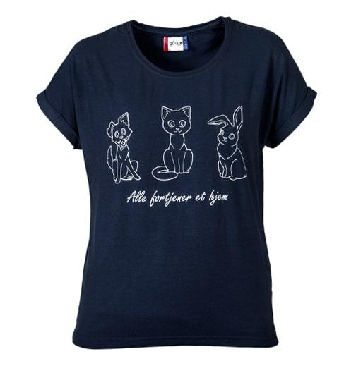 T-skjorte Alle fortjener et hjem mørkeblå