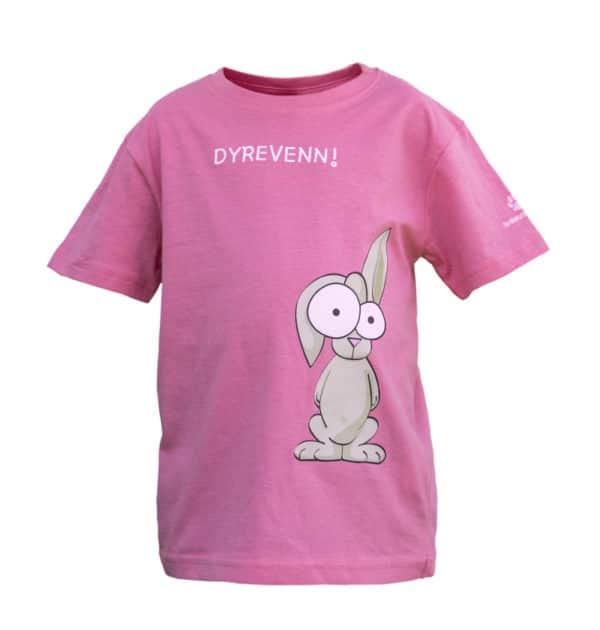 """Rosa """"Dyrevenn"""" t-skjorte med kaninmotiv"""