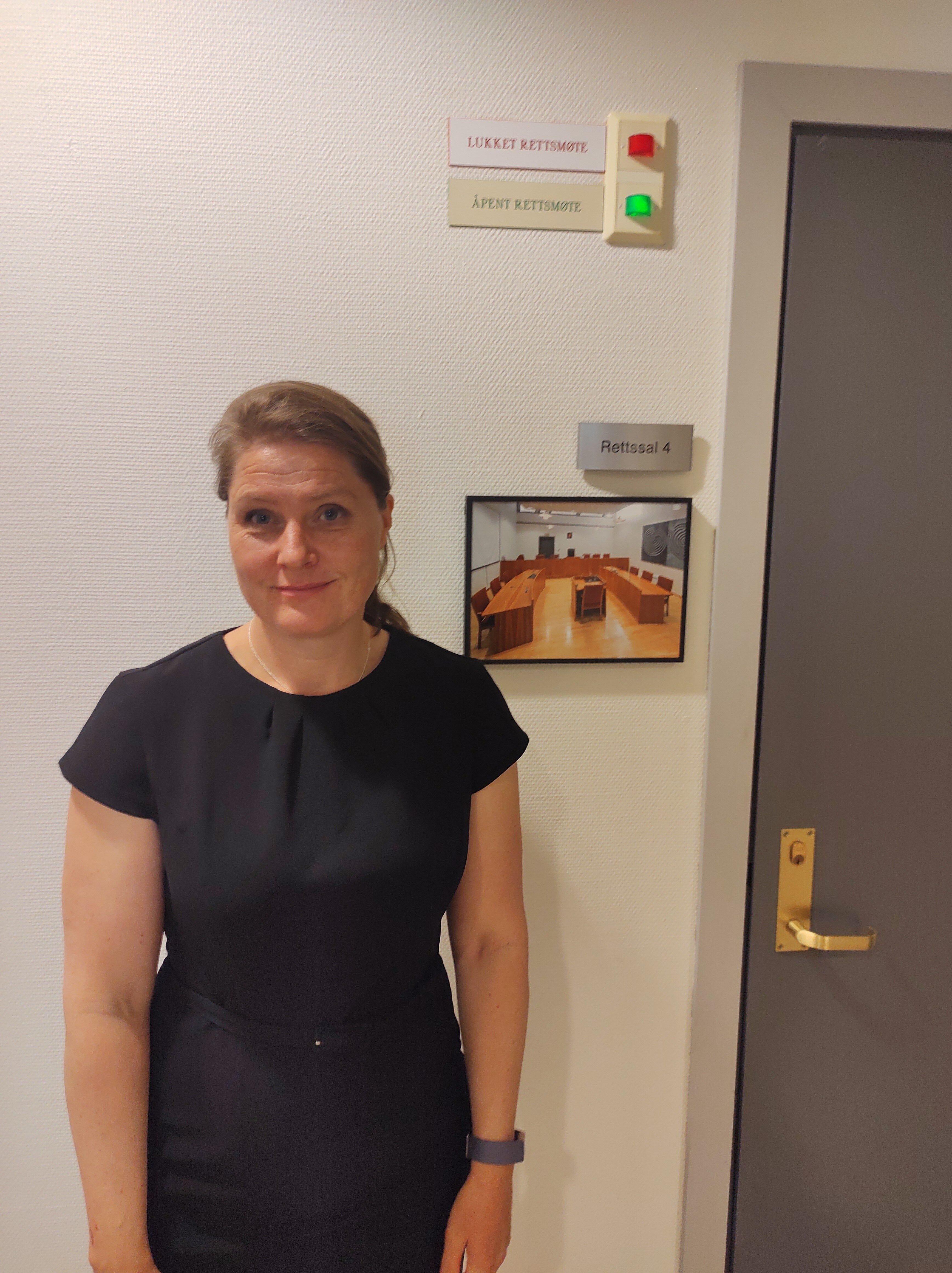 Åshild Roaldset som sakkyndig. Foto: Eva Hustoft.