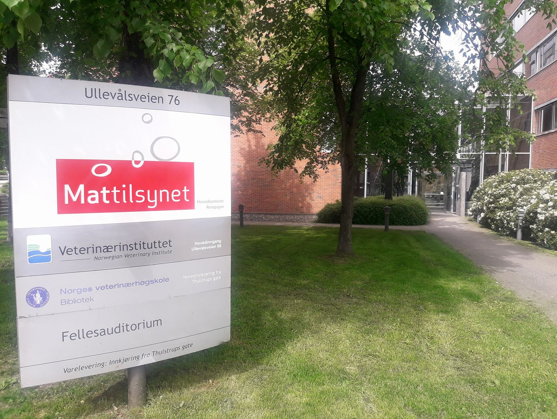 Illustrasjonsbilde Mattilsynets hovedkontor. Foto: Annette Bjørndalen Søreide
