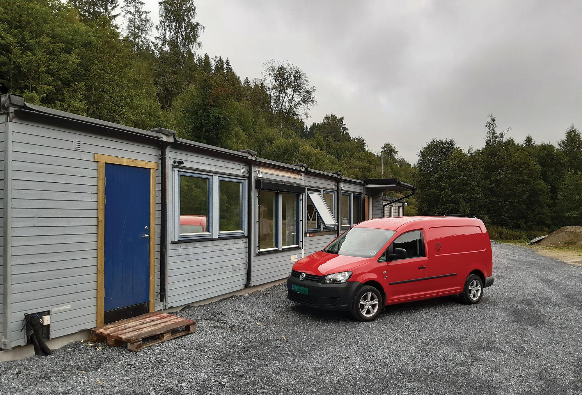 Hjelpesenteret er snart ferdig. Foto: Dyrebeskyttelsen Norge Nord-Trøndelag.