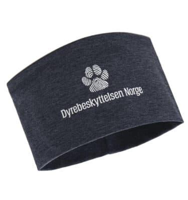 Mørkeblå pannebånd voksen med logo